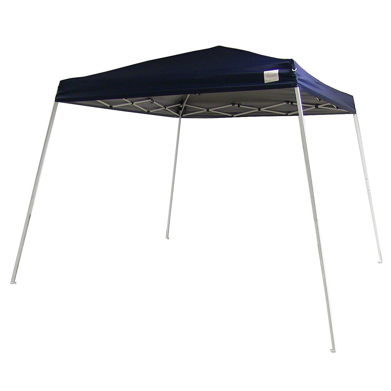 Sunnydaze Quick-Up Canopy 8 Foot x 8 Foot Top 10 Foot x 10 Foot Ground Slant Leg with Carrying Bag, Navy Blue