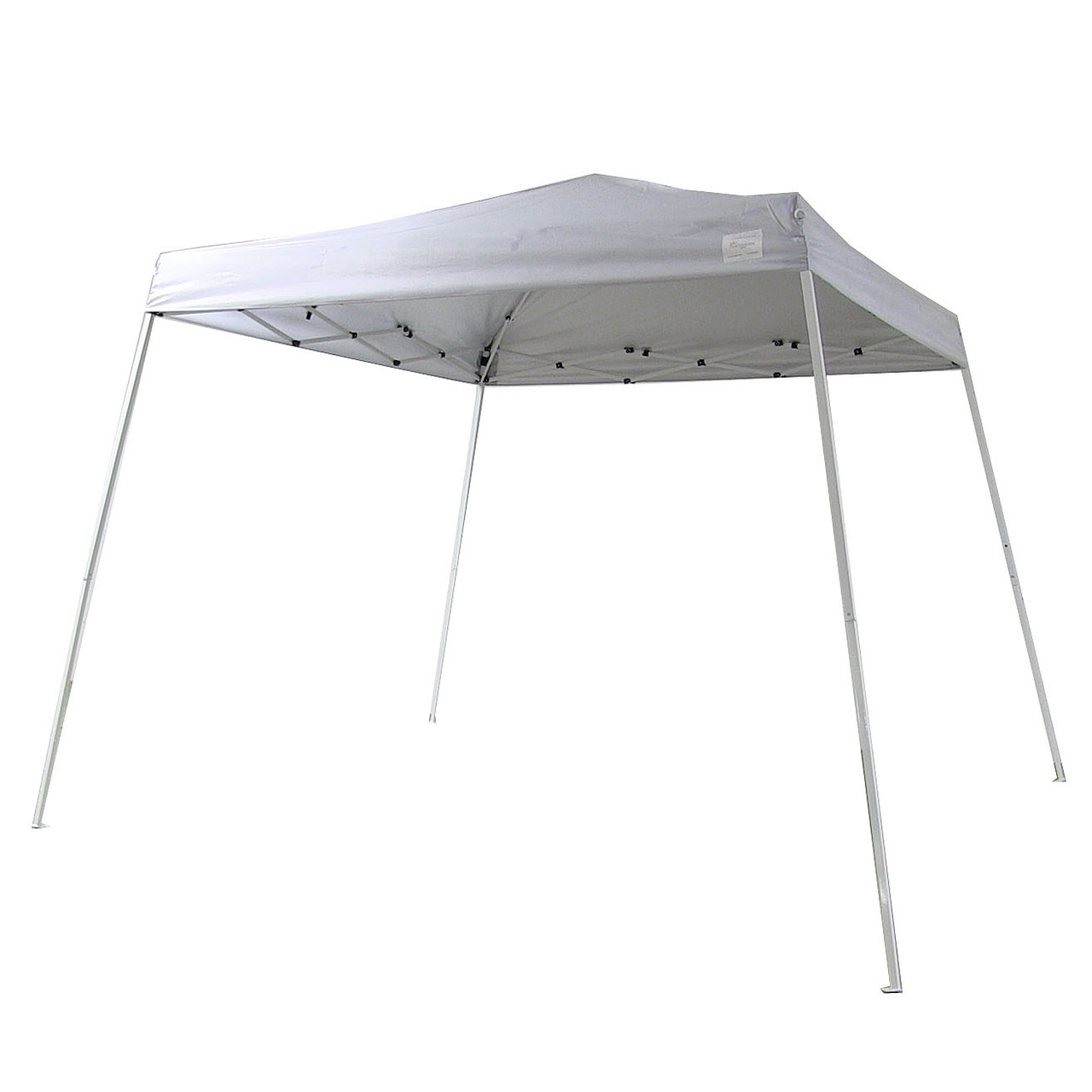 Sunnydaze Quick-Up Canopy 8 Foot x 8 Foot Top 10 Foot x 10 Foot Ground Slant Leg with Carrying Bag, White
