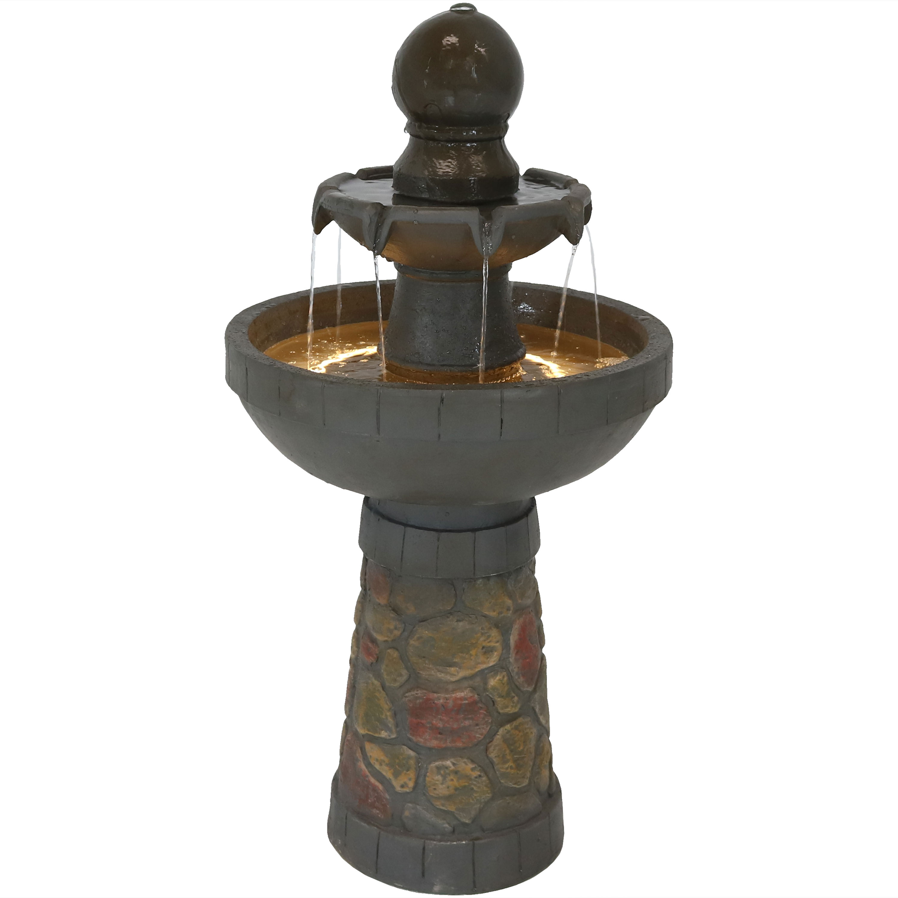 Water Fountain Cobblestone Led Rope Light Photo