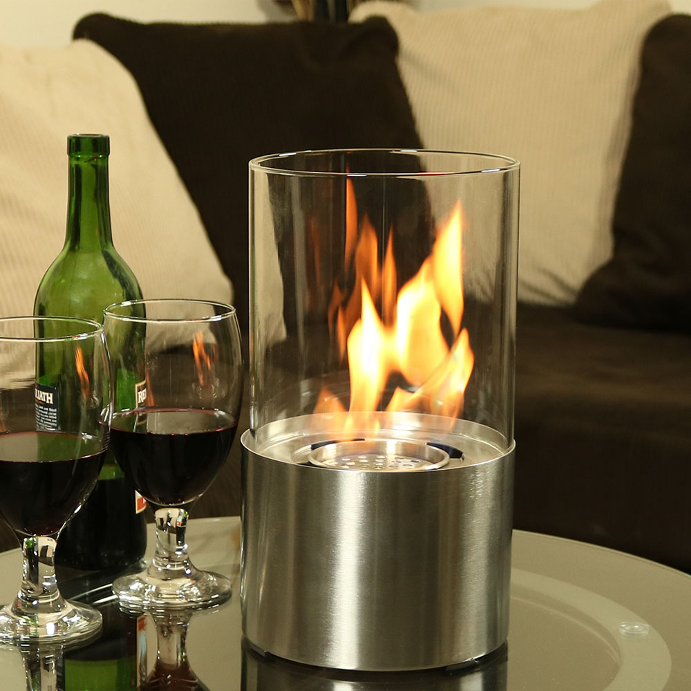 Sunnydaze Fiammata Ventless Tabletop Bio Ethanol Fireplace Stainless Steel Picture 930