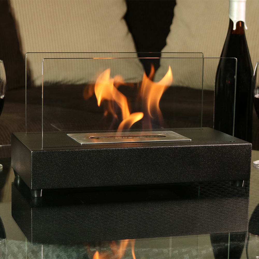 Sunnydaze El Fuego Ventless Tabletop Bio Ethanol Fireplace Picture 930