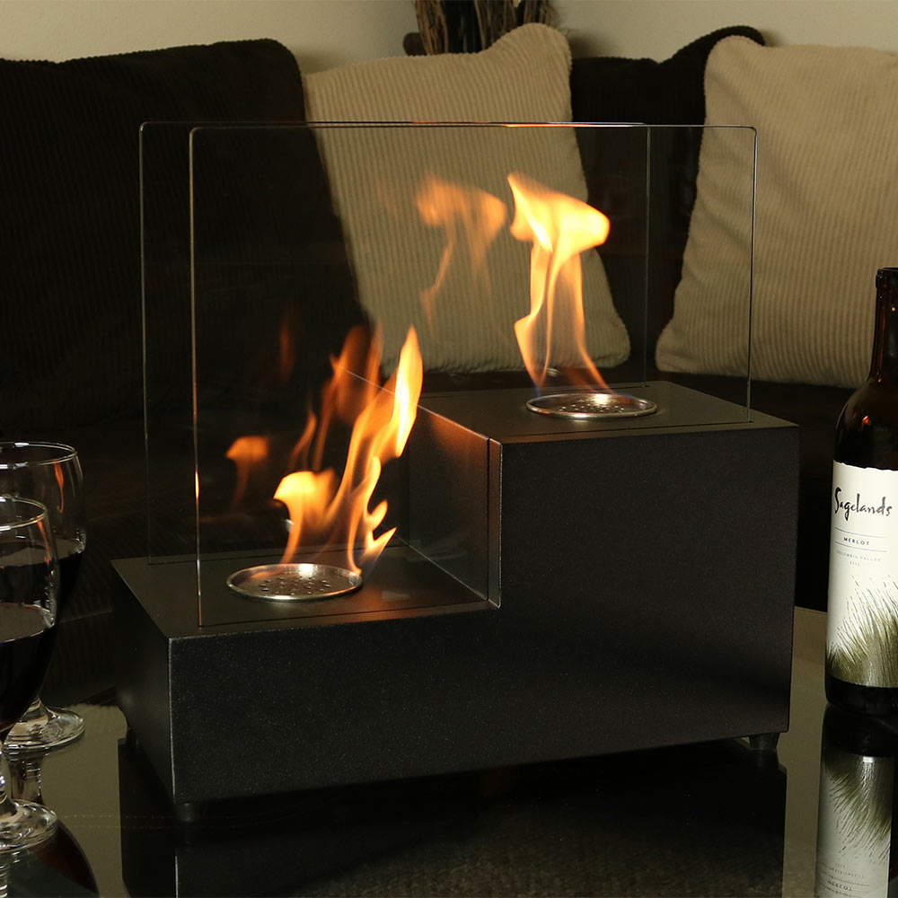 Sunnydaze Passo Ventless Tabletop Bio Ethanol Fireplace Image 299