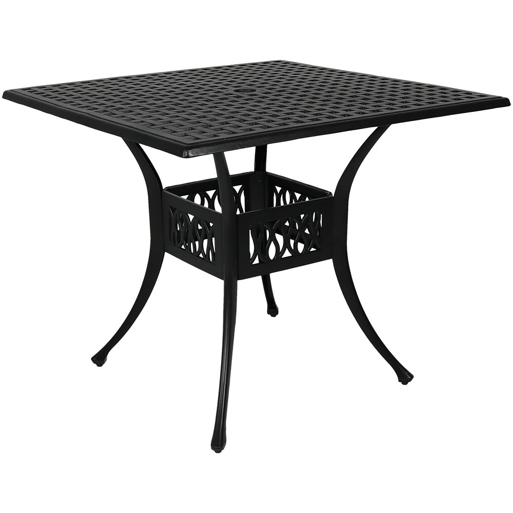 Square Patio Dining Table Black