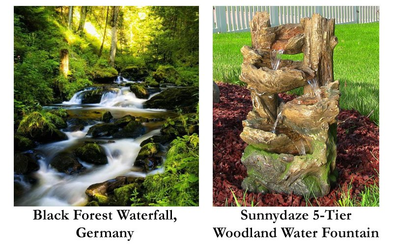 5-Tier Woodland Fountain w/LED Lights