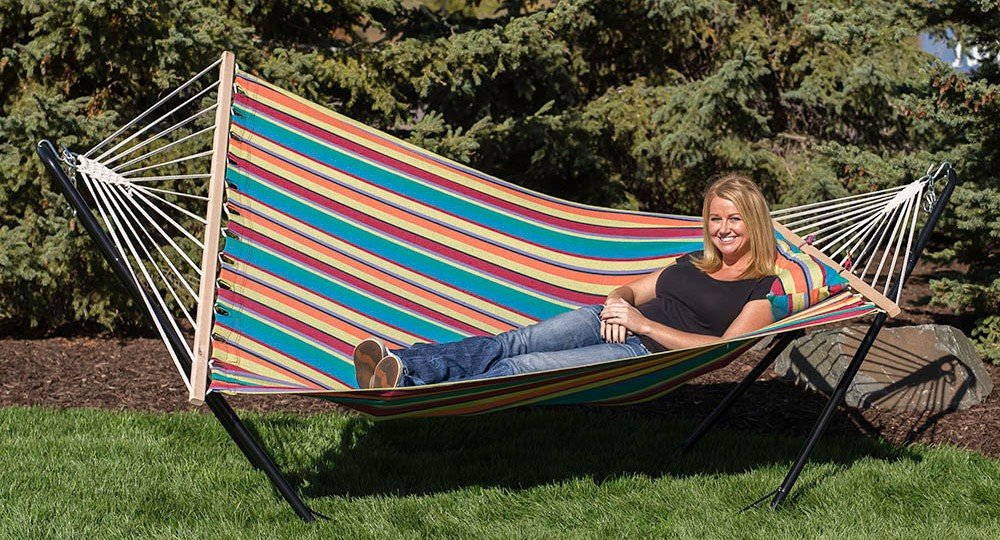 Candy Stripe Hammock with Stand