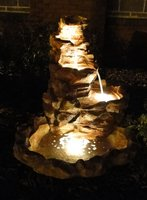 Lighted Springs Outdoor Water Fountain